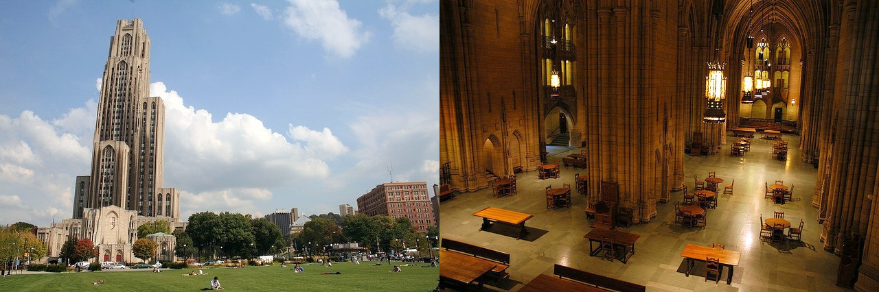 Exterior and Interior of Cathedral of Learning