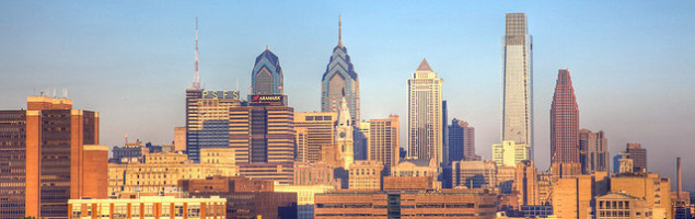 The Philly Skyline on a sunny day