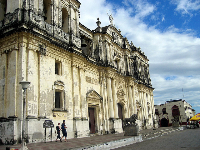 cathedral in Leon, NIcaragua