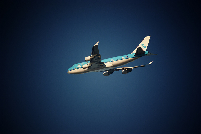 KLM airplane flying