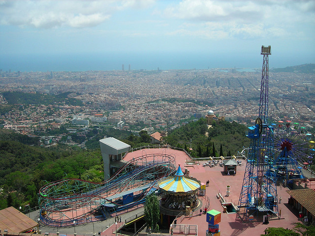 Amusement parks in Barcelona, Spain