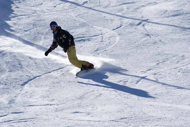 snowboarding on mountain