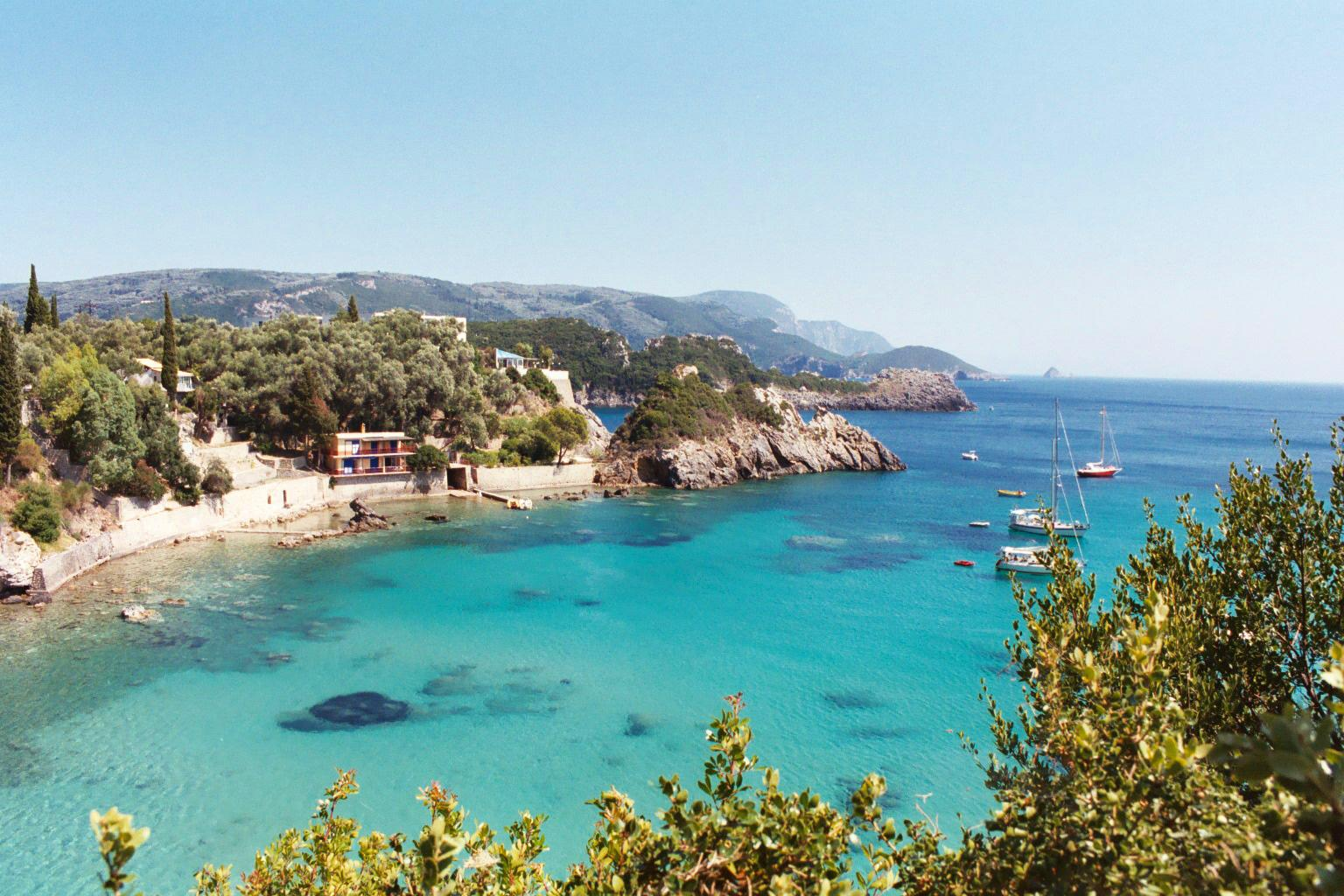 Corfu Island off the coast of Greece