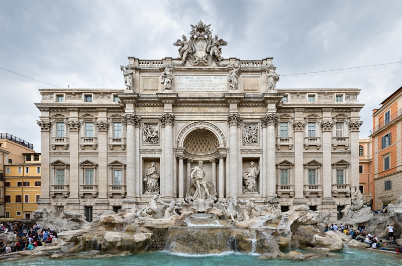 The Trevi fountains in Rome, Italy are just one of many things you can see on a romantic city break in Europe!