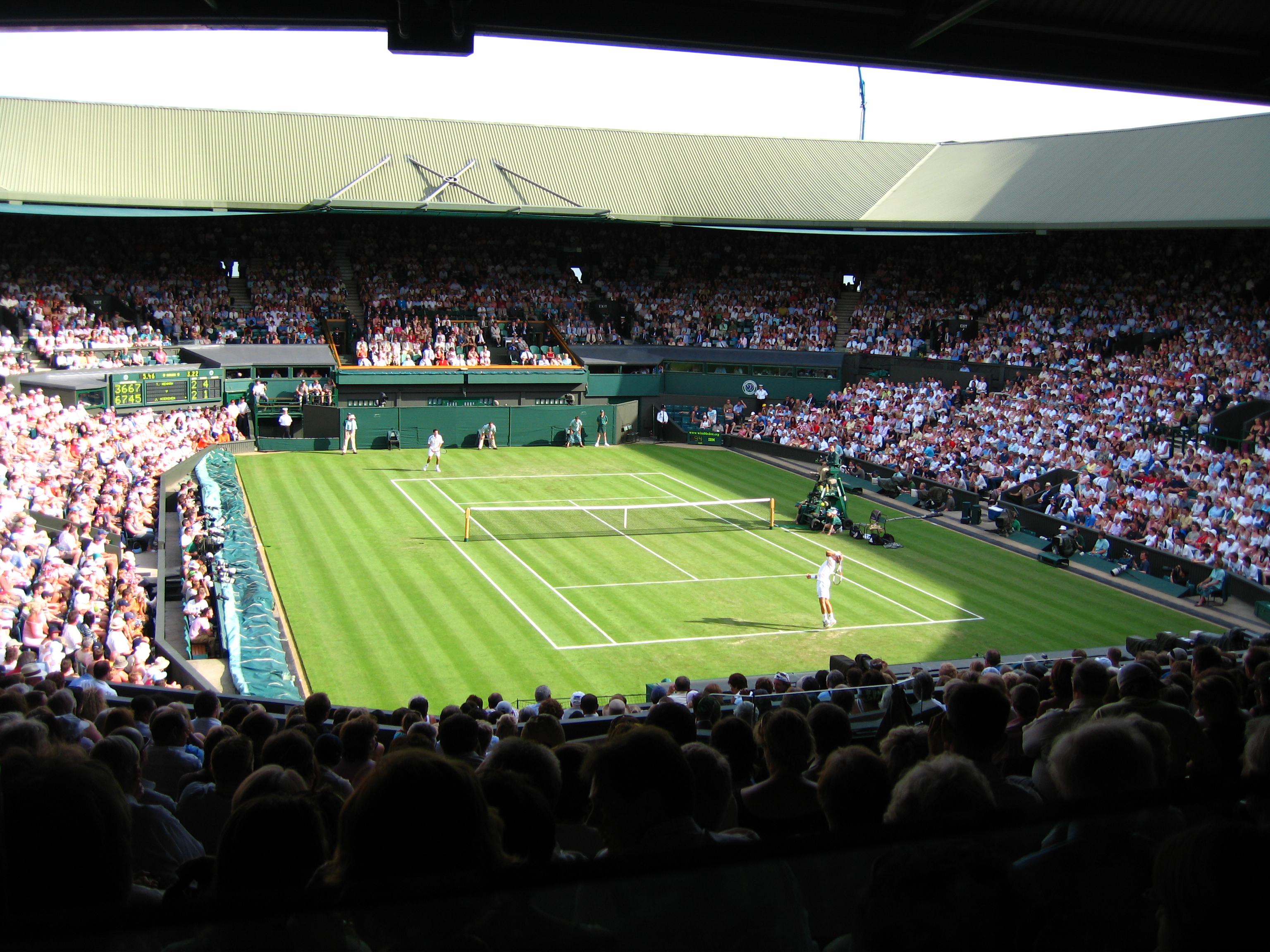 Centre Court at the Wimbledon Tennis Championships