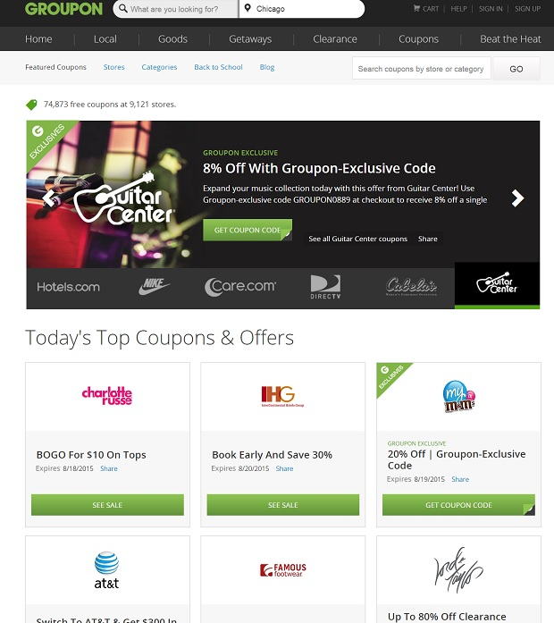 Groupon Coupons for thetravelingtortuga