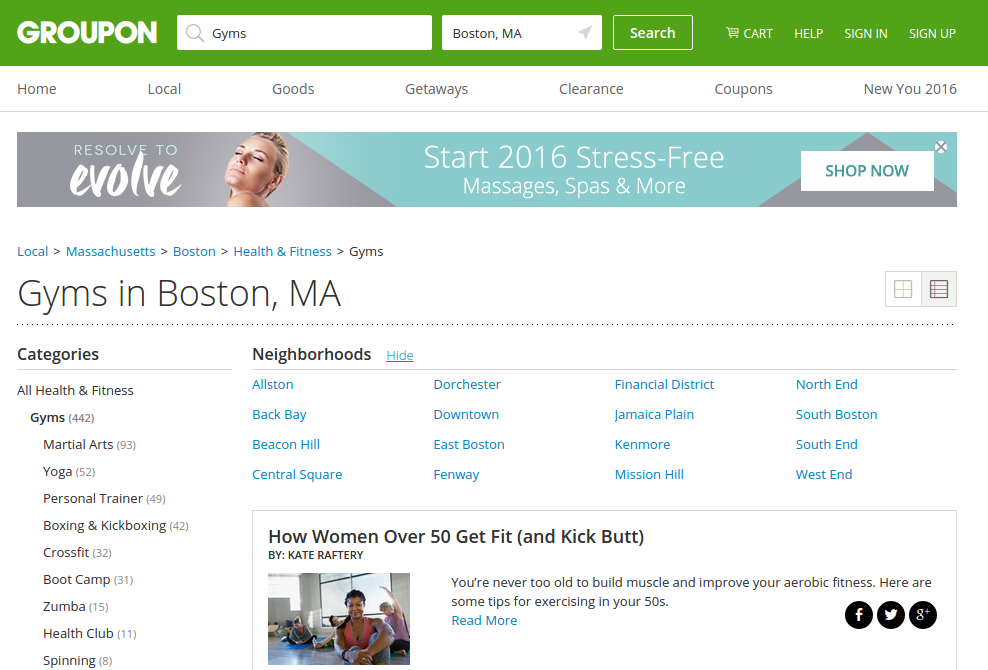 Groupon is number one for savings on wellness
